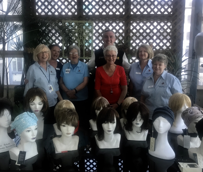 The Port Kembla Palliative Care Volunteer Service receives new wigs, headpieces, and medical equipment