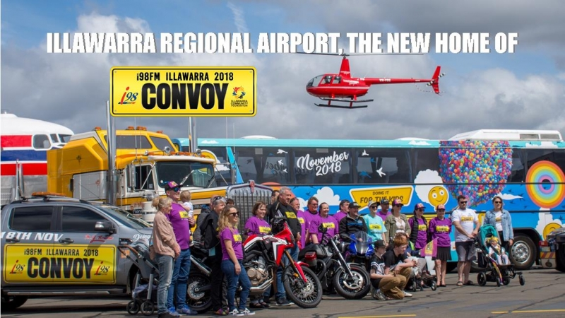 Convoy launches with a new home, Illawarra Regional Airport!