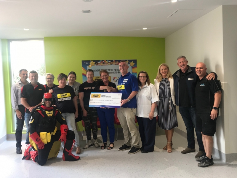 CONVOY FUNDS STAGE TWO OF CHILDREN'S WARD UPGRADE WITH  1.2 MILLION DOLLAR COMMITMENT